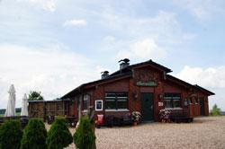 Die Hoheleyer Hütte unmittelbar am Rothaarsteig