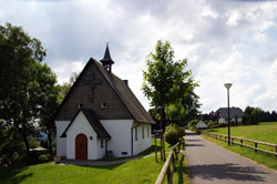 Die Bonifatius-Kapelle in Schanze wurde 1955 erbaut