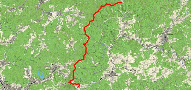Rothaarsteigetappe von Jagdhaus nach Lützel