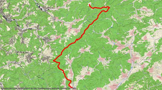 Rothaarsteig-Etappe vom Lahnhof nach Rodenbach