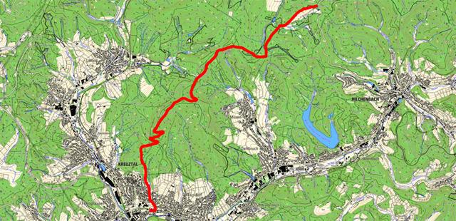 Route Vorspanneiche-Erbstollen