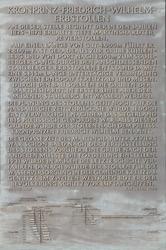 Gedenktafel am Kronprinz Friedrich Wilhelm Erbstollen