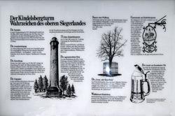 Info-Tafel an der Turmgaststätte