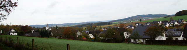 Blick vom Soester Totenweg auf Wormbach