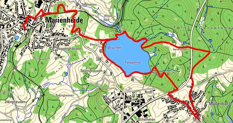 Route Bergischer Fuhrmannsweg