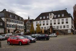 Der Marktplatz in Wipperführt, Start und Ziel des Heimatwegs