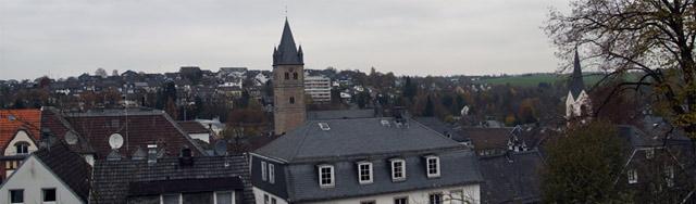 Blick vom Klosterberg über die Dächer von Wipperfürth