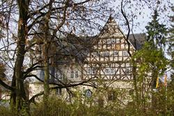 Blick zurück auf Schloss Junkernhees