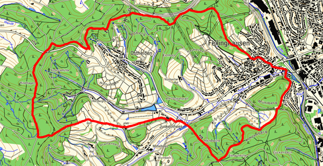 Wanderroute rund um Fellinghausen und Osthelden