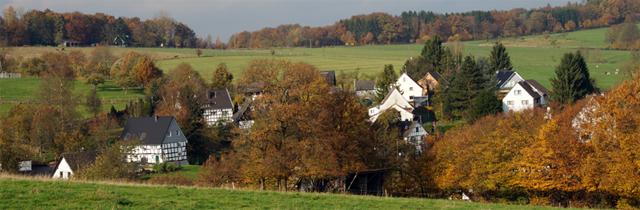 Blick vom Fachwerkweg auf den Nümbrechter Ortsteil Lindscheid