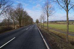 Die Hohe Straße, die heutige B8, bei Meisenbach
