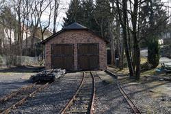 Der Lokschuppen in Asbach
