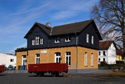 Der ehemalige Bahnhof in Asbach