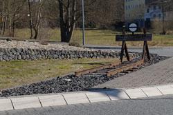 Gleisreste am Basaltweg in Asbach