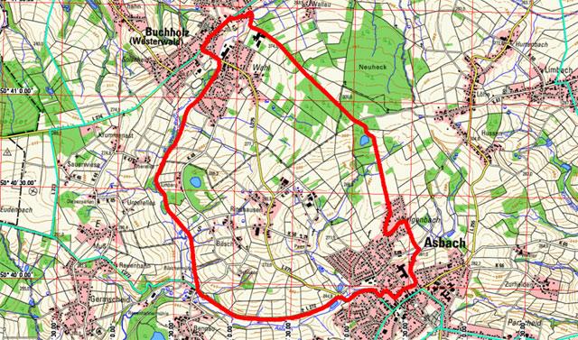 Route Basaltweg Asbach