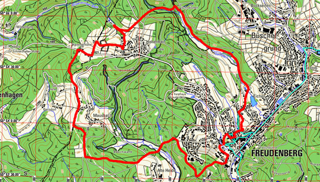 Route Fachwerkweg Freudenberg