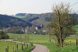 Blick vom Mühlenweg auf die Delling