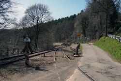 Die Wuppertalbahn zwischen Wilhelmstal und Krebsöge