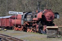 Alte Dampflok im Museumsbahnhof Dahlhausen