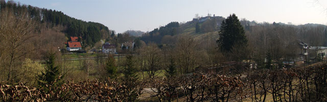 Blick über Ringelstein auf Harth