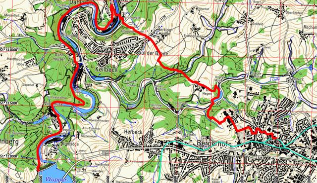 Route Tuchmacherweg Radevormwald