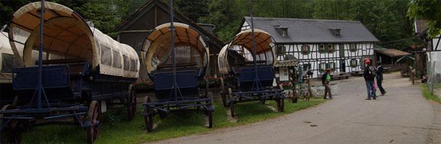 Planwagenfahrten an der Gambacher Mühle