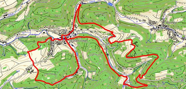 Erweiterte Golddorf-Route Oberkirchen