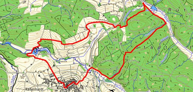 Route Rundwanderung Kallenhardt