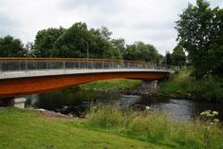 Die neue Aggerbrücke in Schiffarth