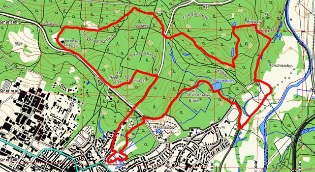 Route Wasser-und-Dünen-Wanderweg