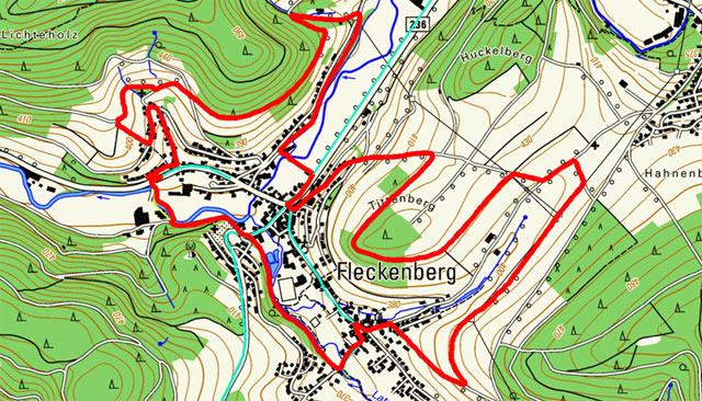 Golddorf-Route Fleckenberg