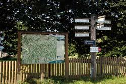 Start und Ziel der Golddorf-Route Lenne