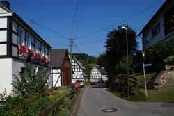 Blick zurück über dier ersten Meter der Golddorf-Route