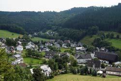 Blick von der Golddorf-Route auf Niedersorpe