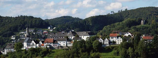Panoramablick vom Lüsenberg auf die Arnsberger Altstadt