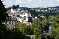 Panoramablick vom Ehmsendenkmal auf die Arnsberger Altstadt