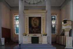 Altar mit Altarbild des Malers Ernst Deger in der Auferstehungskirche am Neumarkt in Arnsberg