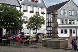 Maximilianbrunnen auf dem Alten Markt in Arnberg