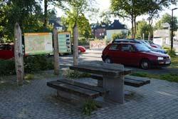Start und Ziel der Arnsberger Aussichtsroute ist das Wanderportal am Bahnhof