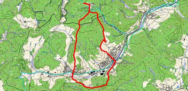 Route Rundwanderung Einsiedelei