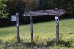 Wanderwegweiser auf der Einsiedelei