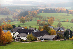 Blick vom Hang des Hohen Hagen auf Werntrop