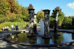 Der Säulenbrunnen im Nümbrechter Kurpark