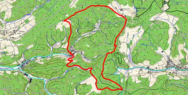 Route Rundwanderung Rehringhausen