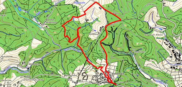 Route Rundwanderung Hohenhain