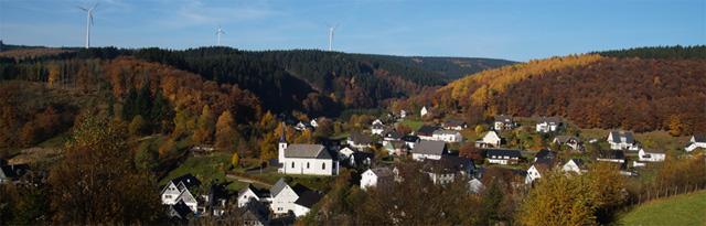 Panoramablick vom Wanderweg A2 auf Rehringhausen
