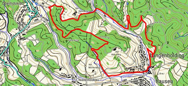 Route Rundwanderung Langenholdinghausen