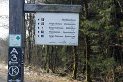 Wanderwegweiser am Graevenstein