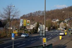 Blick vom Siegerlandweg auf die B 62