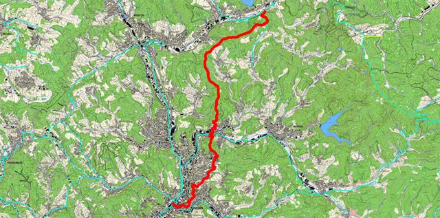 Siegerlandweg von Stift Keppel nach Siegen